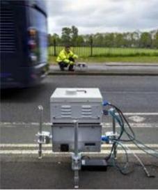 Zdalna detekcja spalin pojazdów - urządzenie